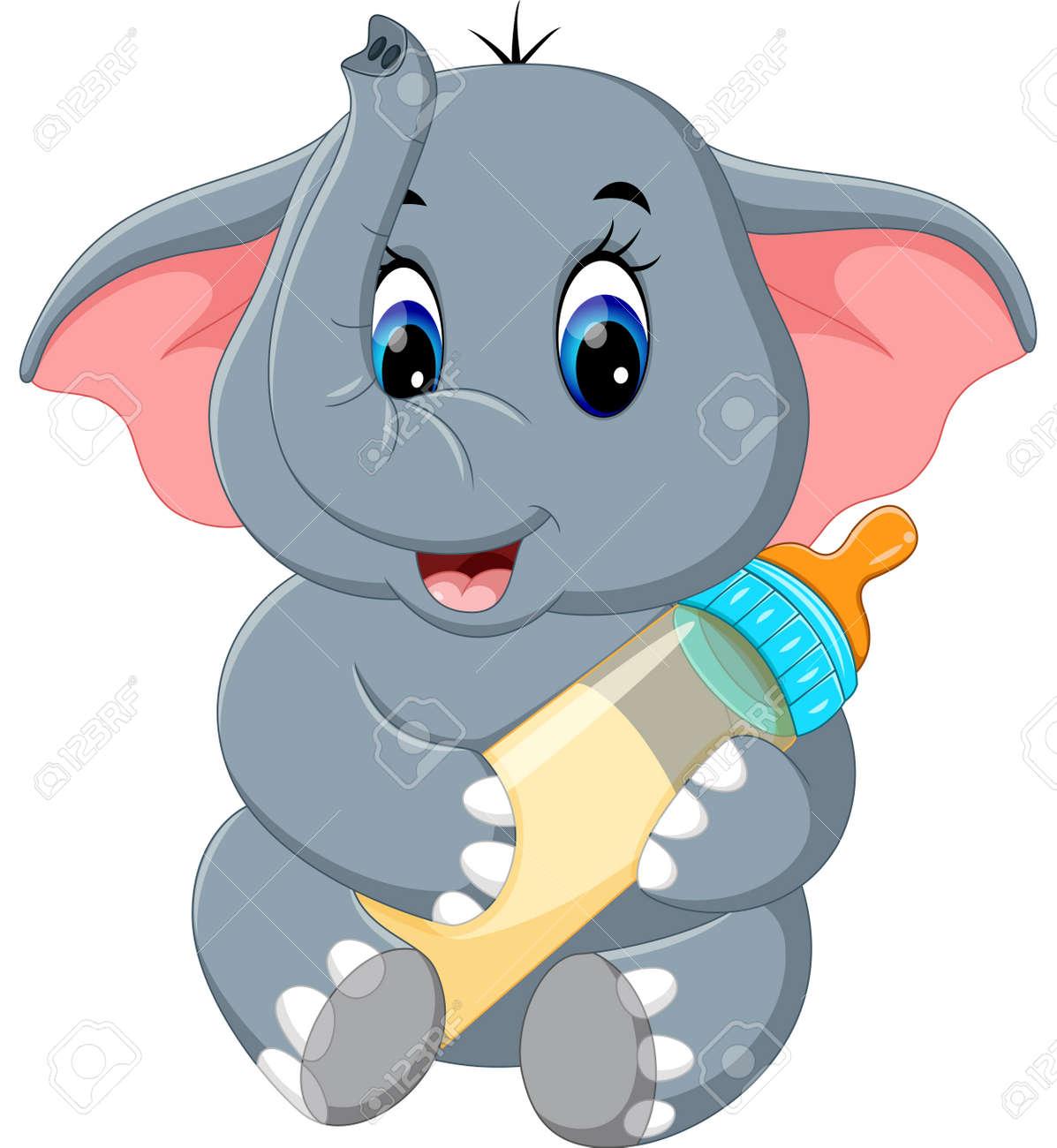 Cute elephant cartoon - 60915211