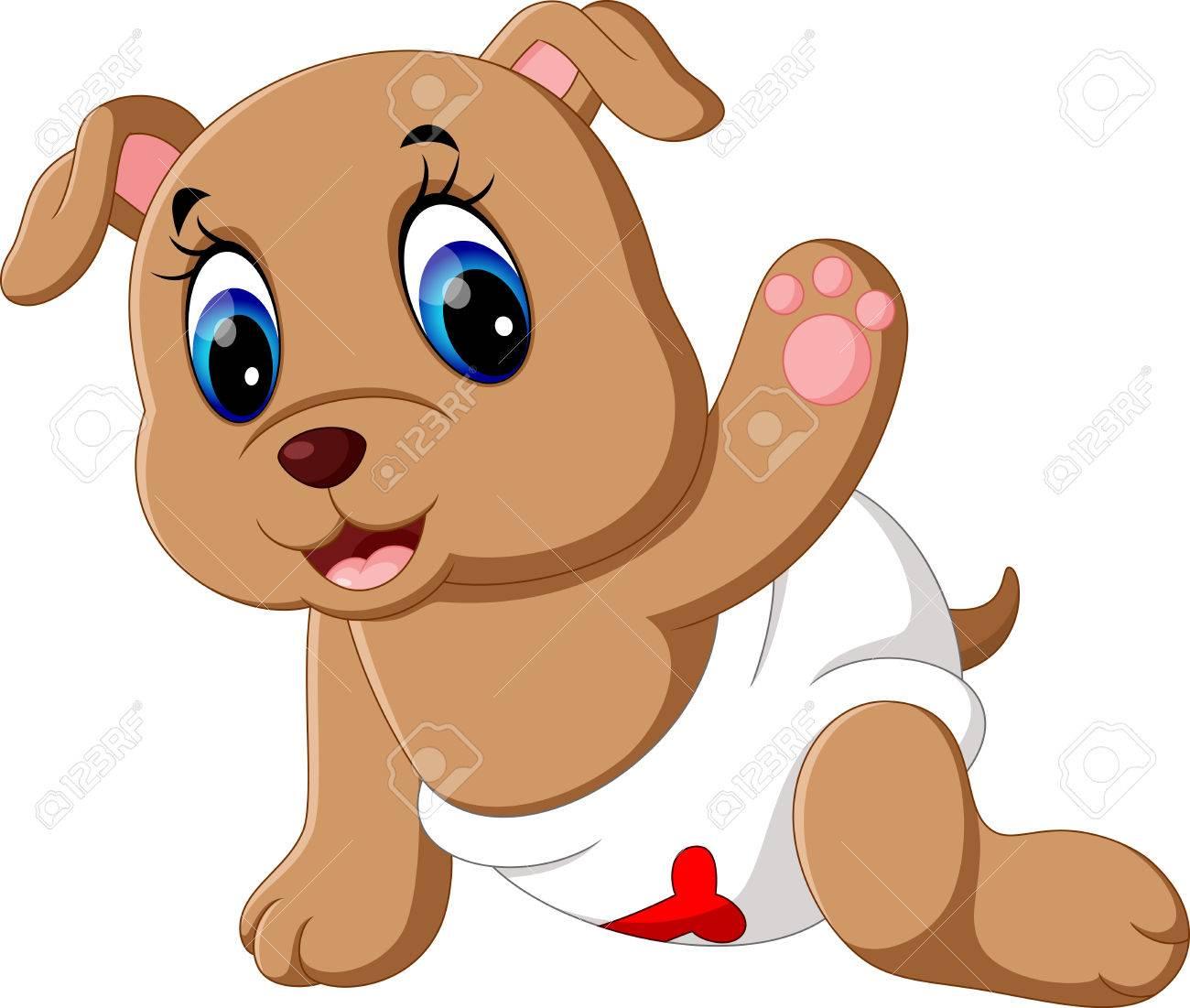 Perro De Dibujos Animados Lindo Bebé Fotos Retratos Imágenes Y