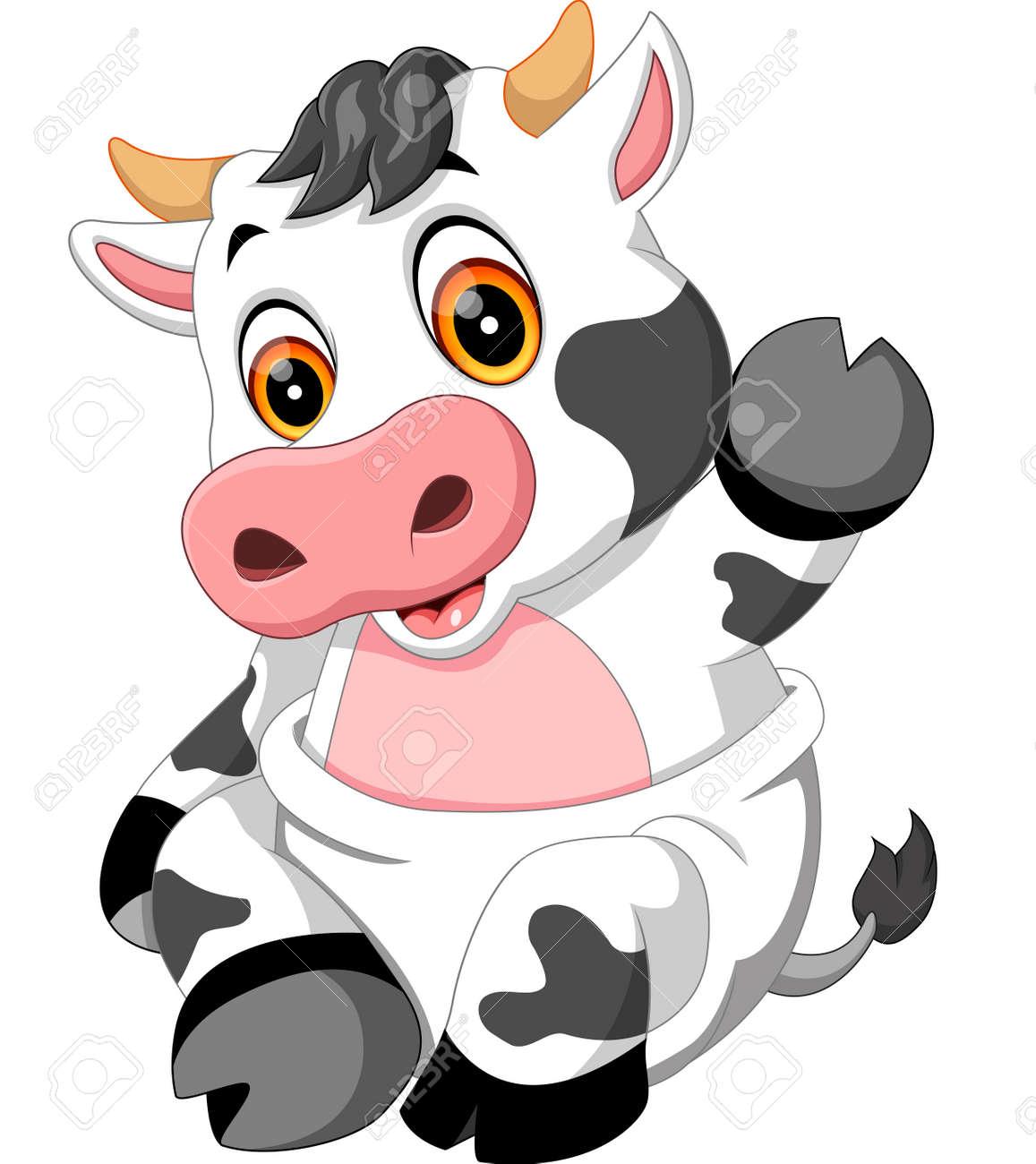 Coloriage Bebe Vache.Bebe Mignon Dessin Anime Vache