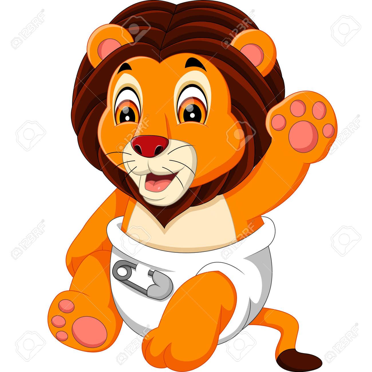 Bébé Mignon Dessin Animé Lion Banque Dimages Et Photos Libres De