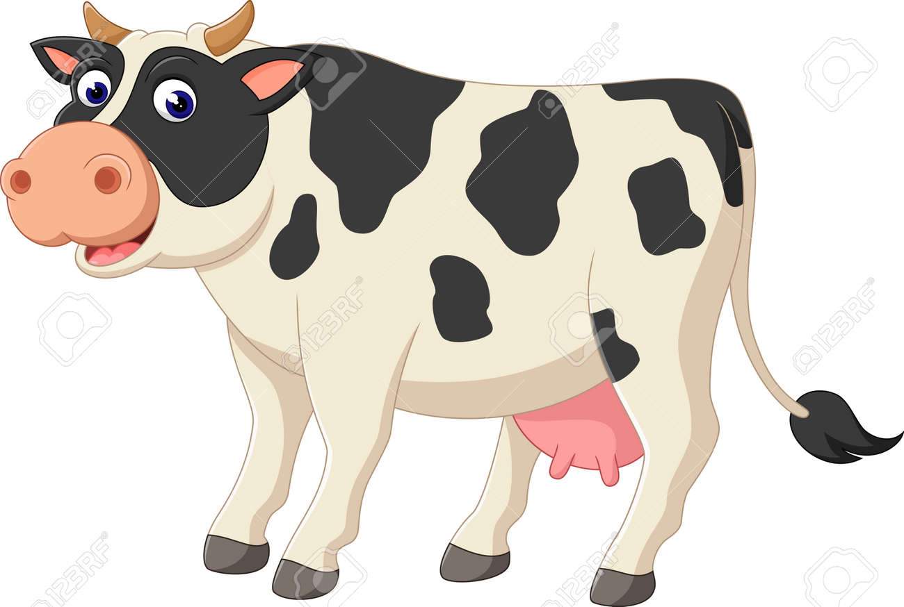 illustration of cute cow cartoon stock photo picture and royalty rh 123rf com cow cartoon images face indian cow images cartoon