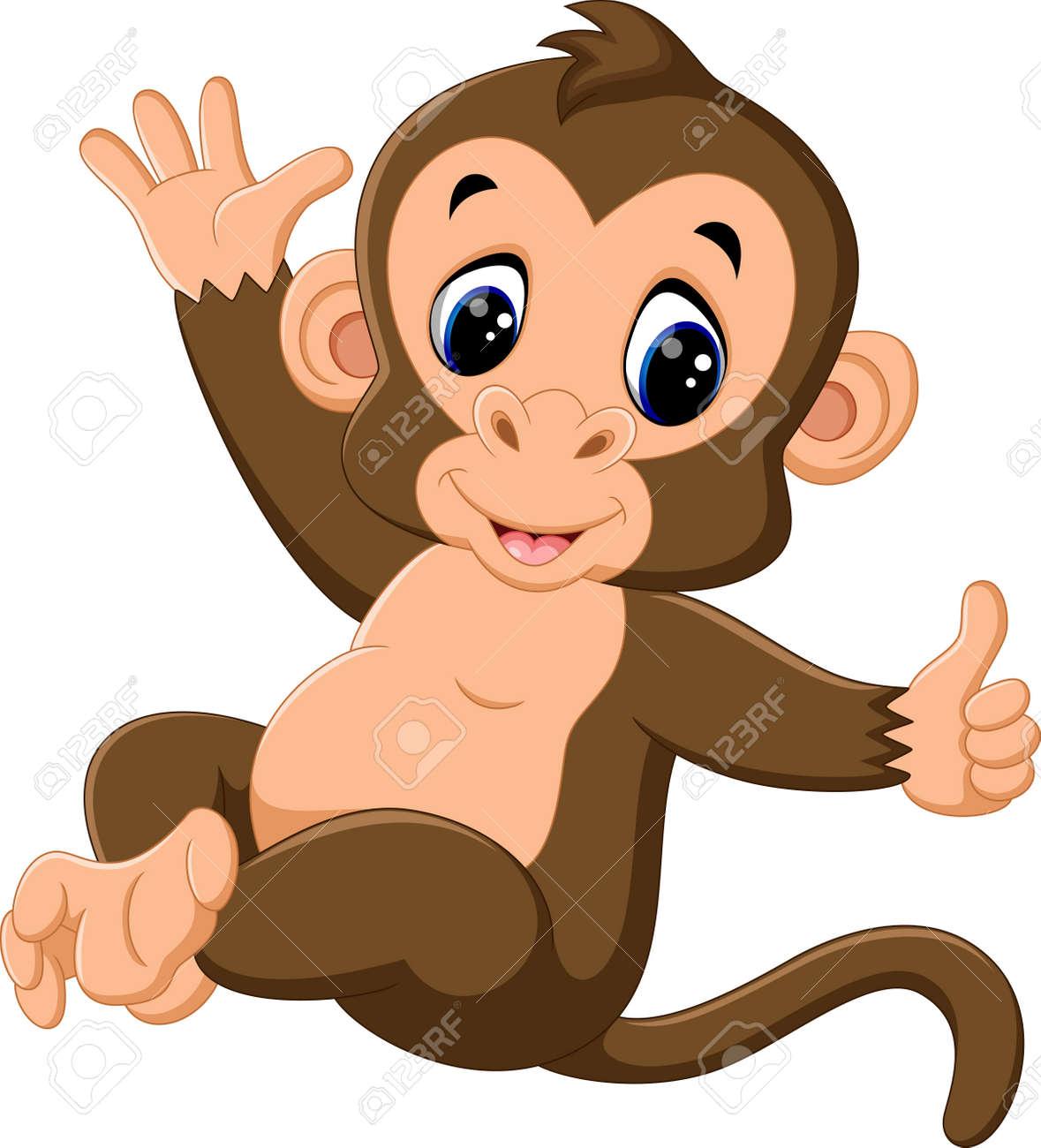 かわいい猿の漫画のイラスト の写真素材 画像素材 Image