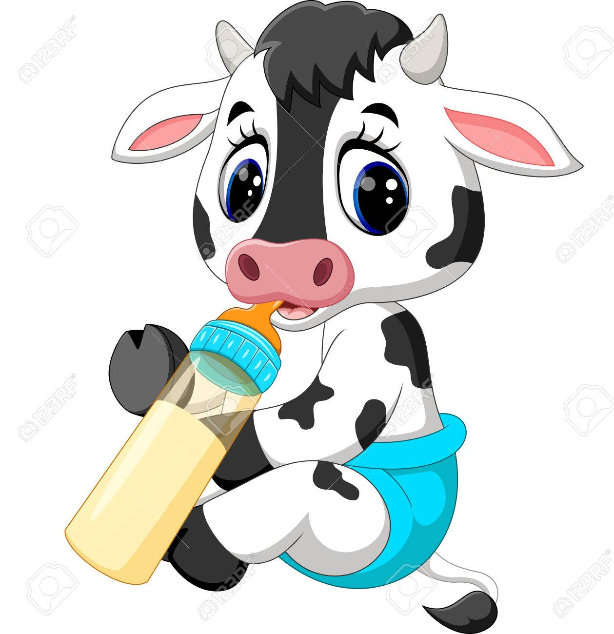 Cute Baby Cow Cartoon Stock Photo Picture And Royalty Free Image