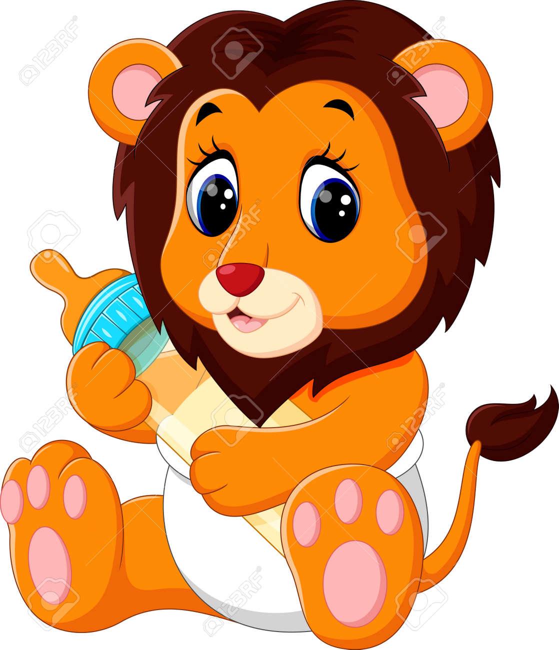 Illustration De Bébé Mignon Dessin Animé Lion Banque Dimages Et