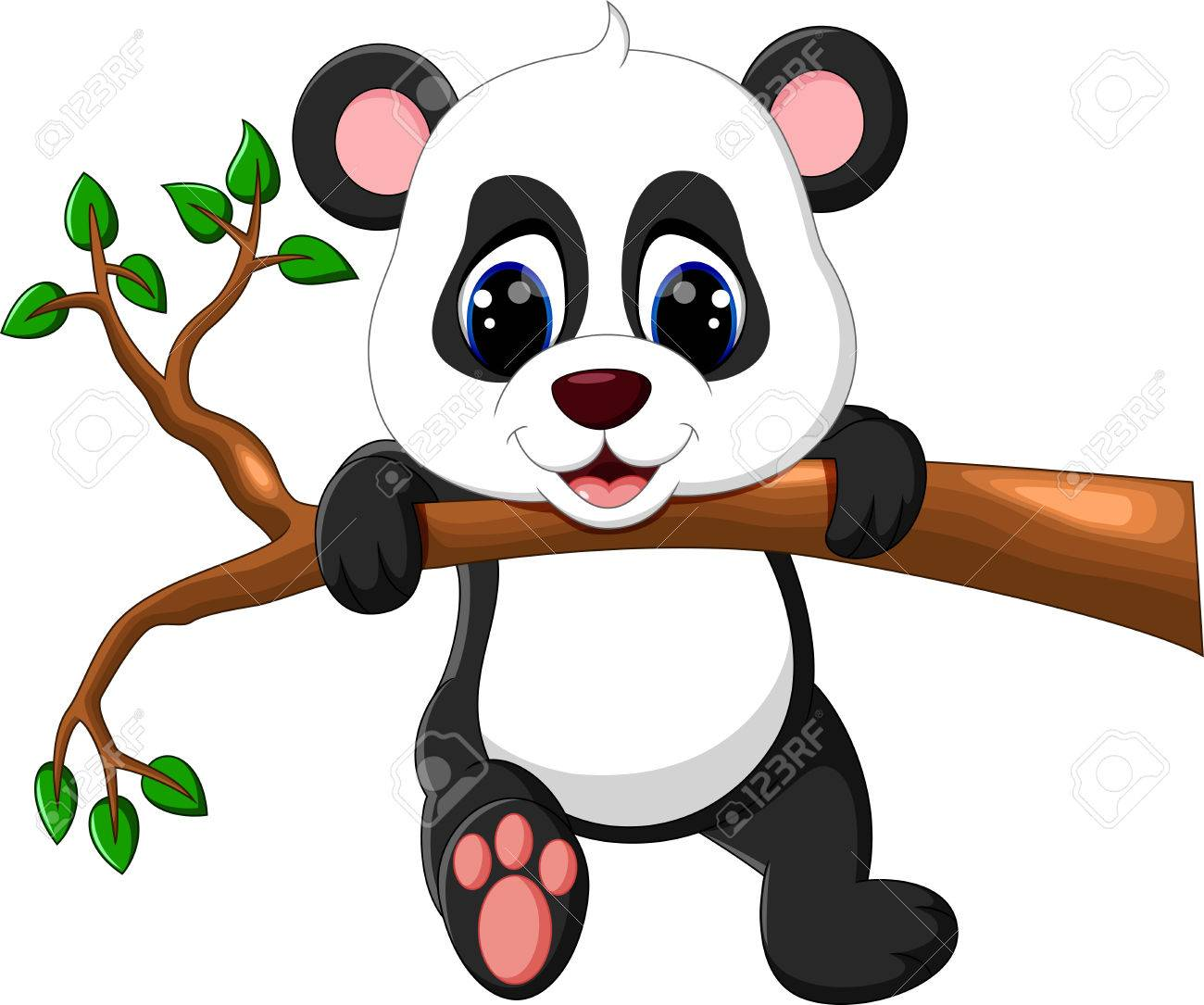 Cute Baby Panda Cartoon Stock Photo Picture And Royalty Free Image Image 60994577