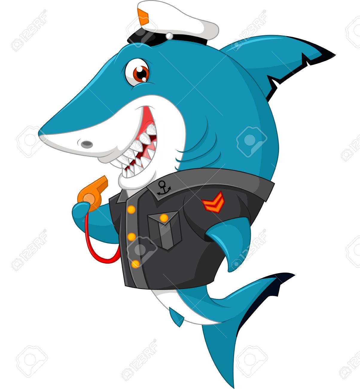 Shark cartoon illustration - 61800984