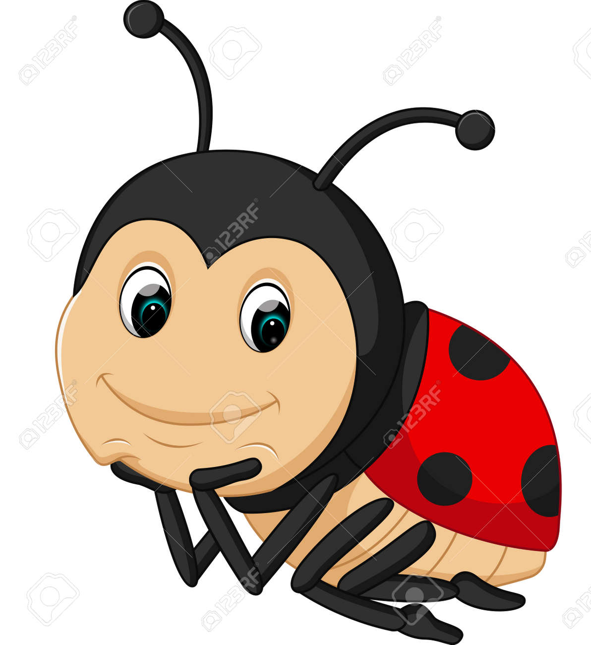 Cute Ladybug Cartoon Stock Vector   69154987