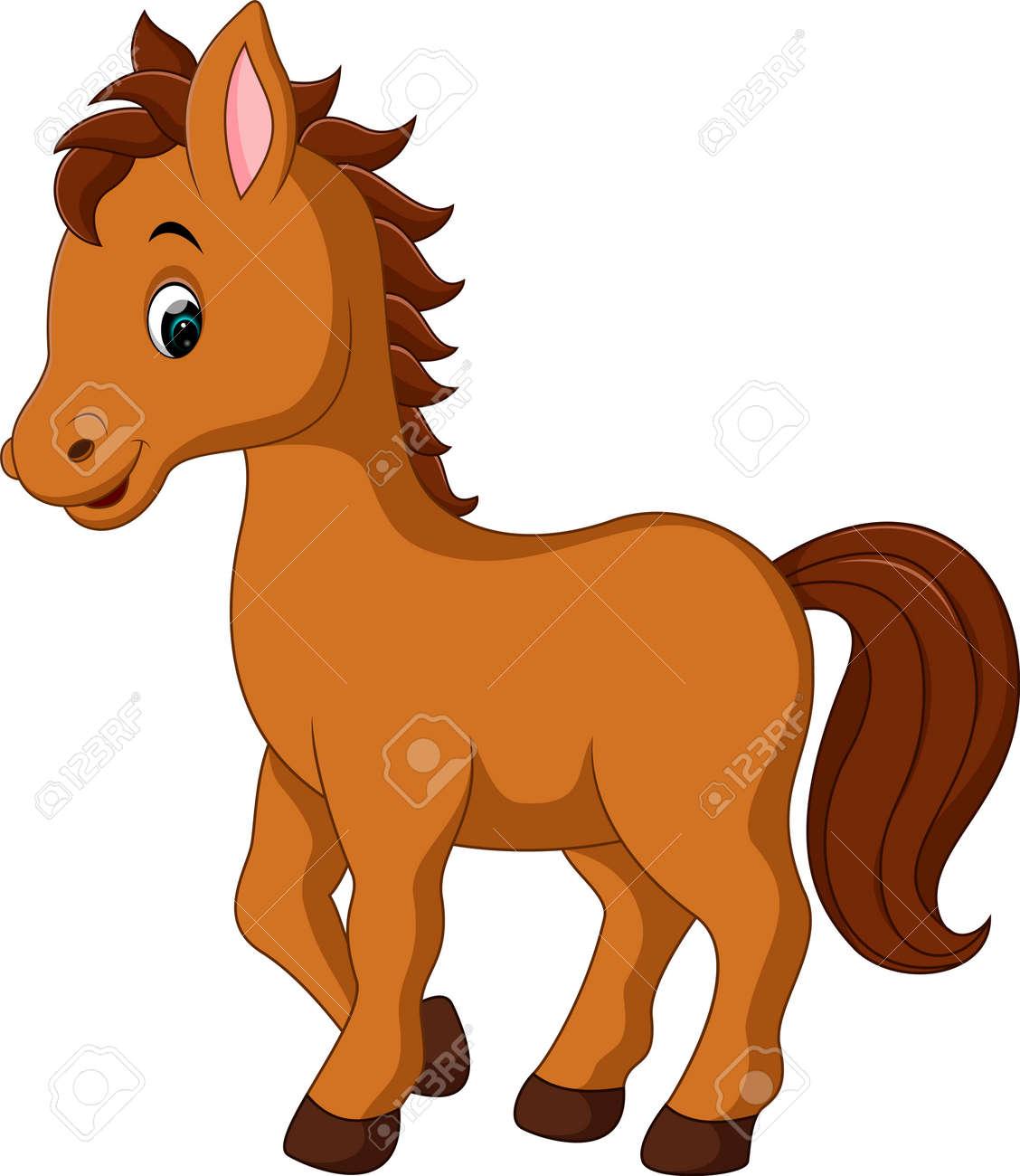 cute horse cartoon royalty free cliparts vectors and stock rh 123rf com cute sea horse clipart cute horse clipart free