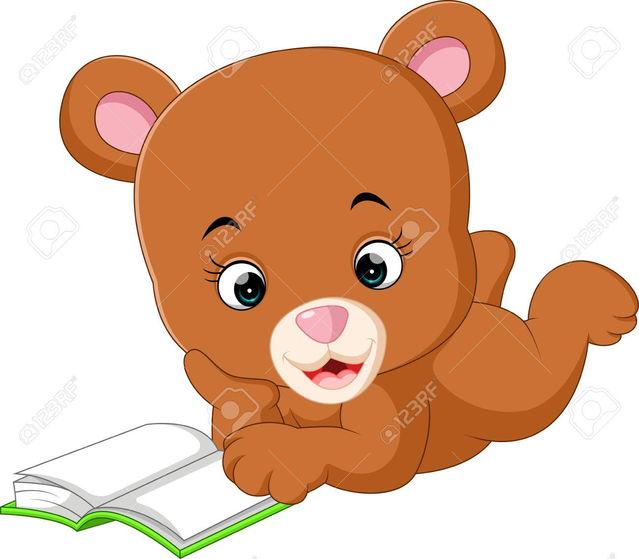 学校、クマ、行く、ベクトル、漫画、イラスト、動物、かわいい、アート