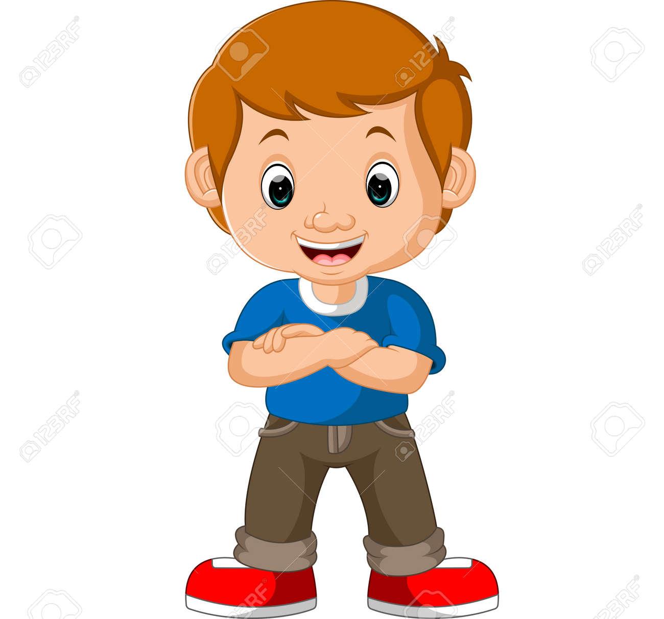 De Dibujos Animados Lindo Del Niño Ilustraciones Vectoriales Clip