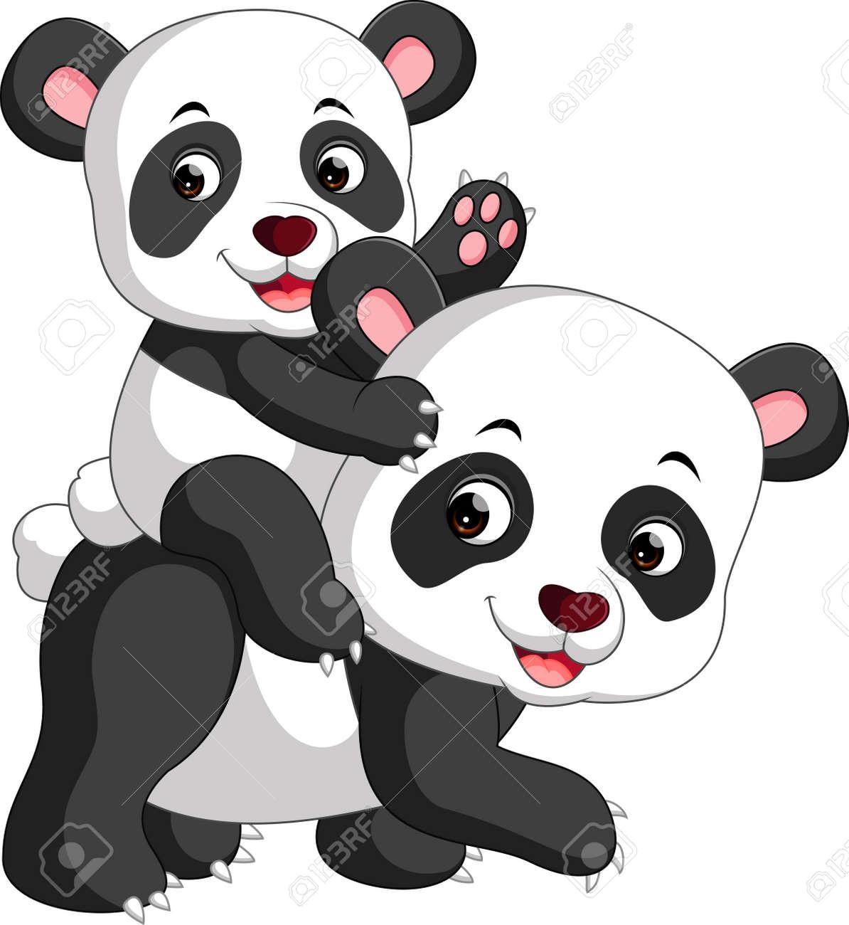 Panda Cute Dessin Animé