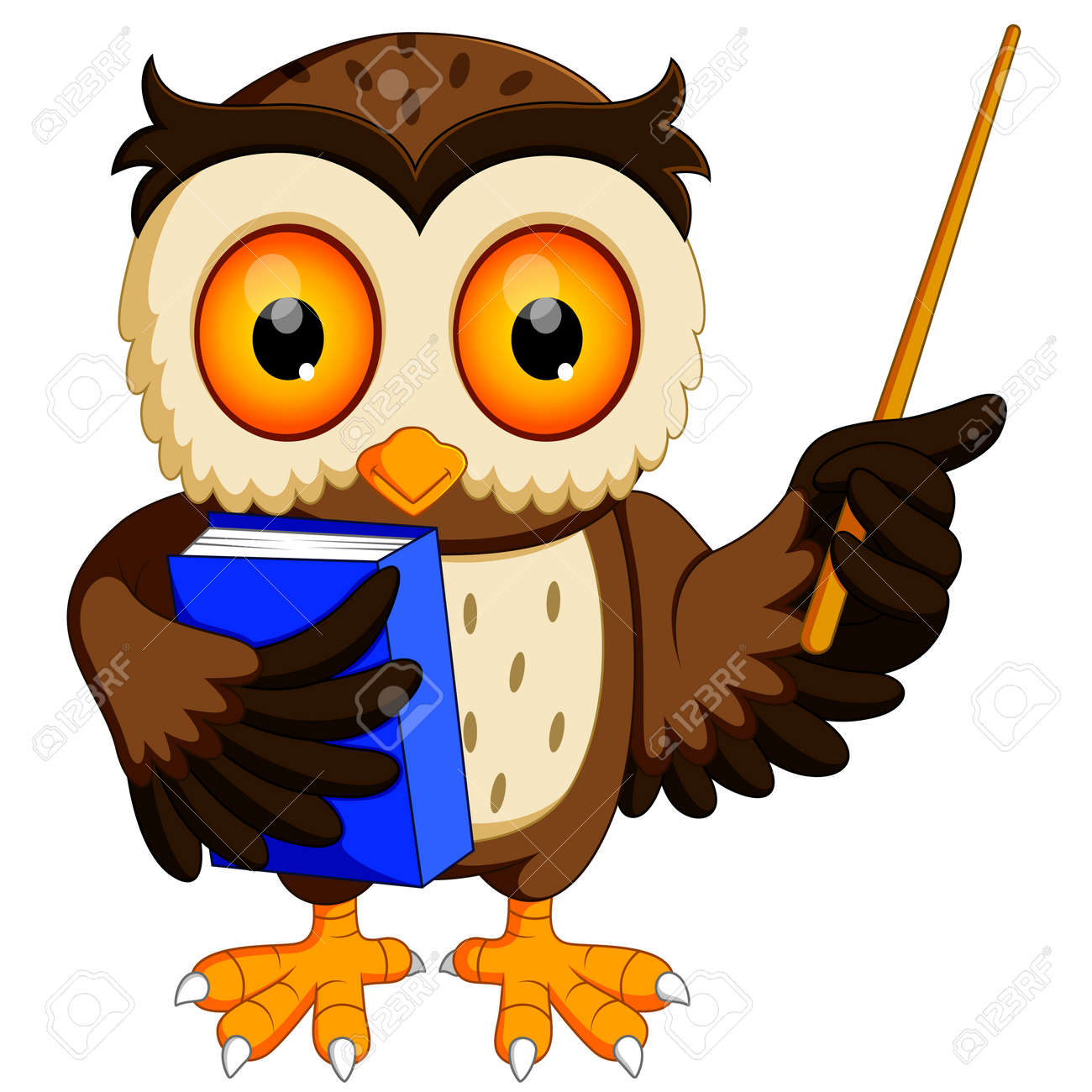 owl in the graduate s carrying book stock photo picture and royalty