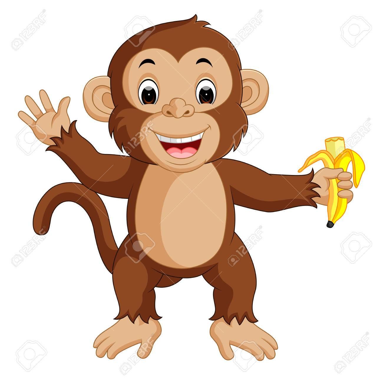 cute monkey cartoon eating banana stock photo picture and royalty rh 123rf com printable cartoon monkey pictures cartoon monkey pictures to print