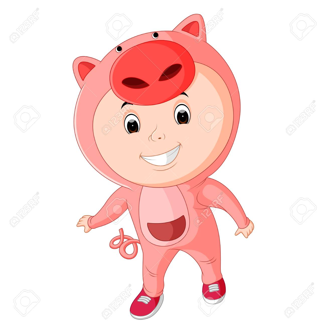 cute kids wearing animal costumes Stock Vector - 88618735  sc 1 st  123RF.com & Cute Kids Wearing Animal Costumes Royalty Free Cliparts Vectors ...