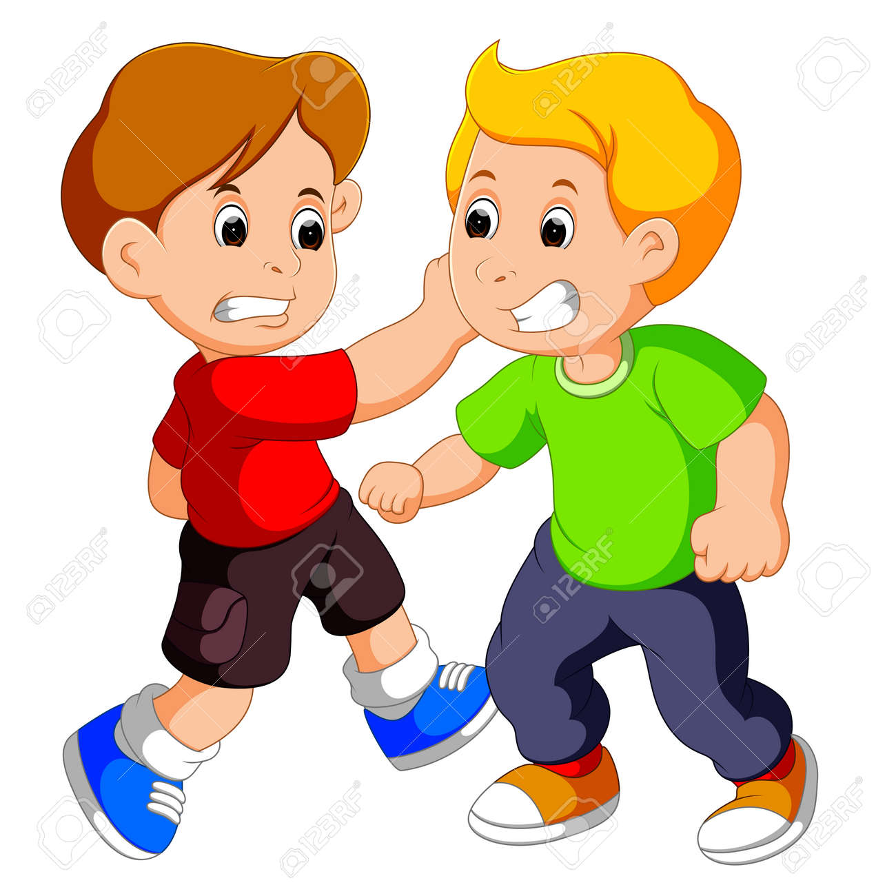 Two young boys fighting - 88598678