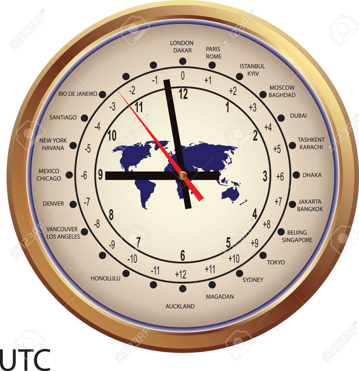Time Zone Map Stock Illustrations Cliparts And Royalty Free - Chicago map time zone