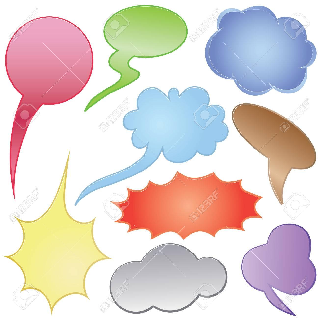 Dialog clouds. Vector illustration. Elements for design. Stock Vector - 7851734