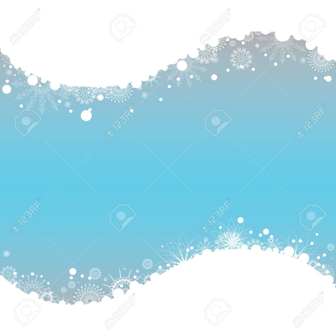 Christmas background with space for text. All elements on separate layers. Vector illustration. Stock Vector - 8219653