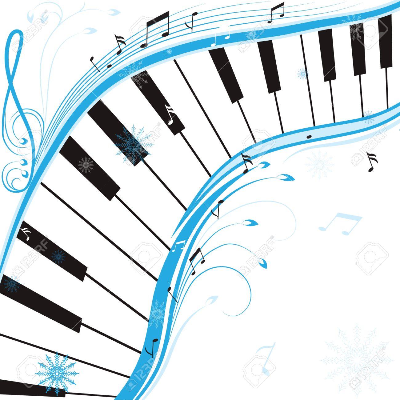 Winter Music, Christmas Background . Illustration. Royalty Free ...