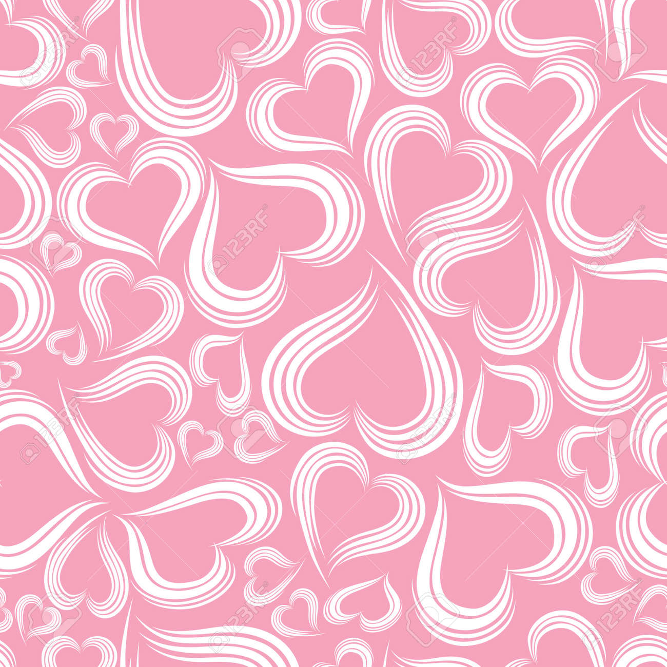 Excellent seamless valentine background. Vector illystration. Stock Vector - 8430403