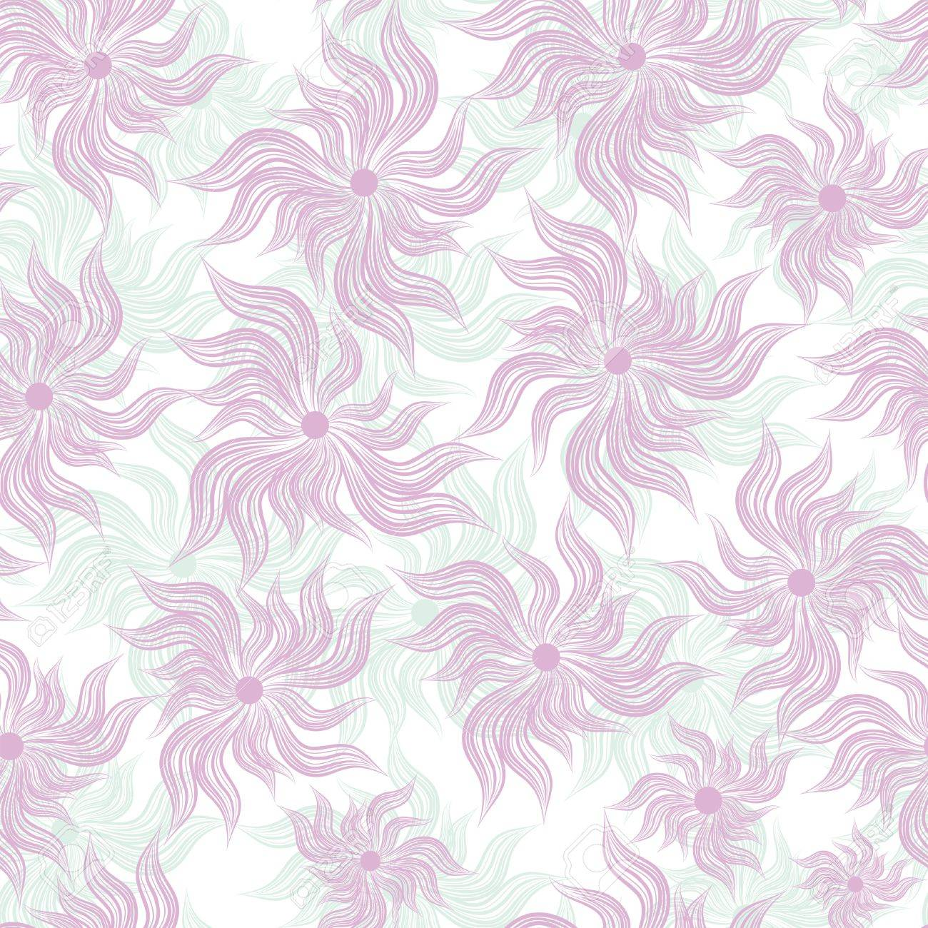 Abstract art flower seamless background pattern, floral vintage illustration. Cute, filigree wallpaper with flourishes. Stock Vector - 9902167