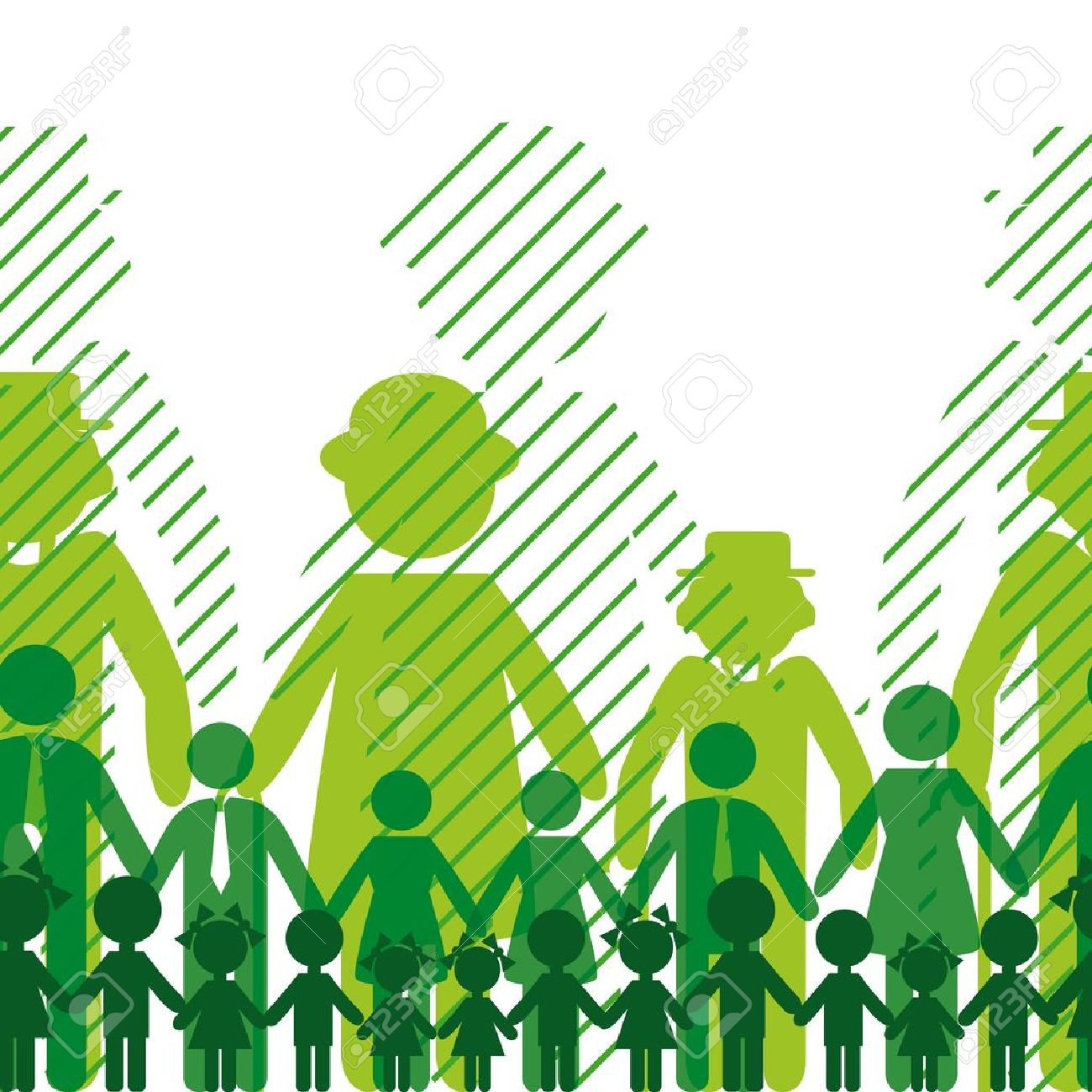 Ecology icon, family background. Seamless generation communication people. Social network chain. Stock Vector - 10014591