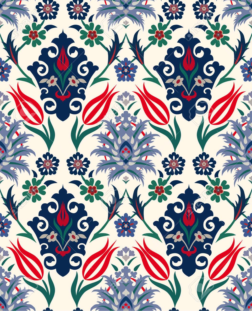 Resume Retro Seamless Floral Textiles Papier Papier Peint Vintage