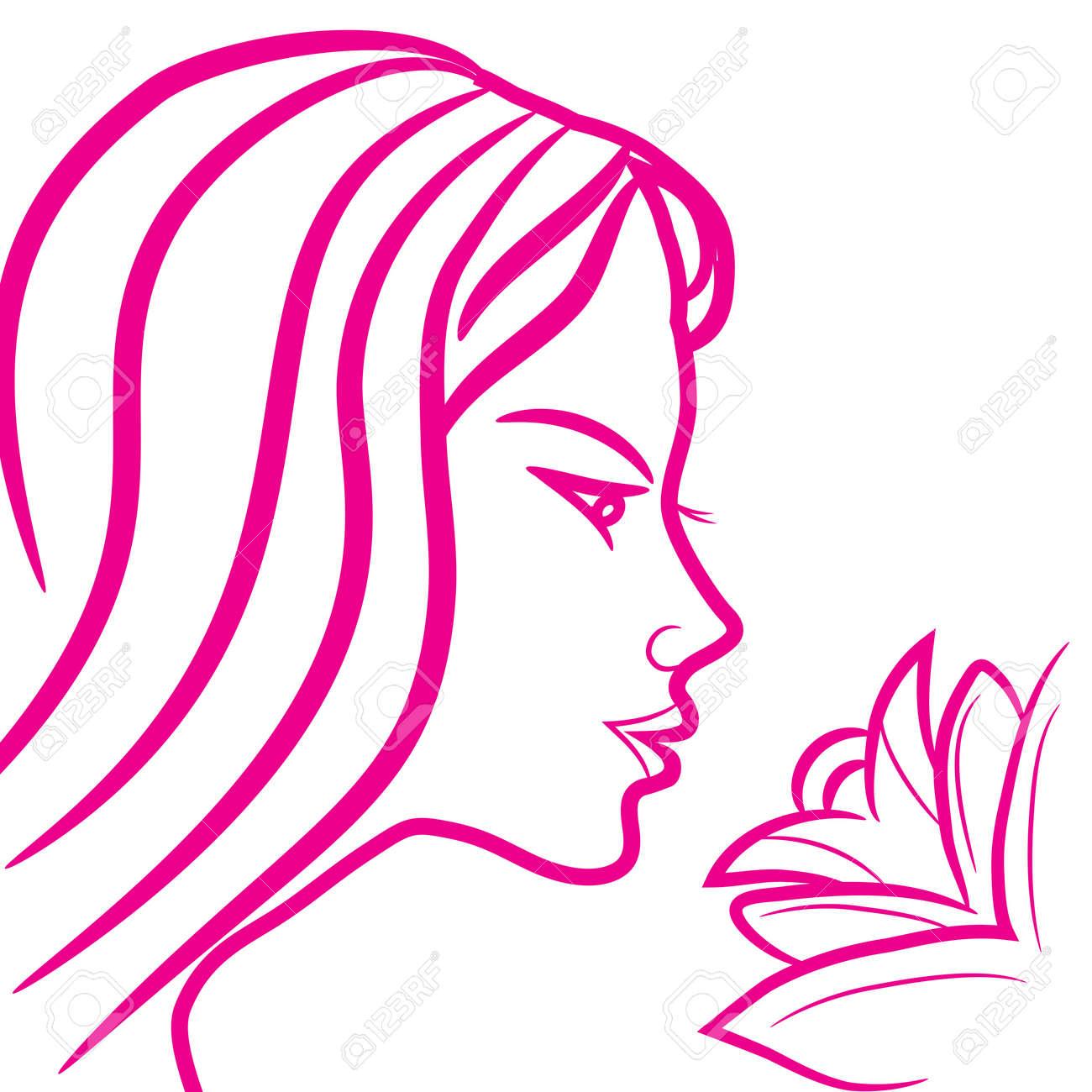 Logo Signe Astrologique Vierge Croquis Icone De Style Femme Fille
