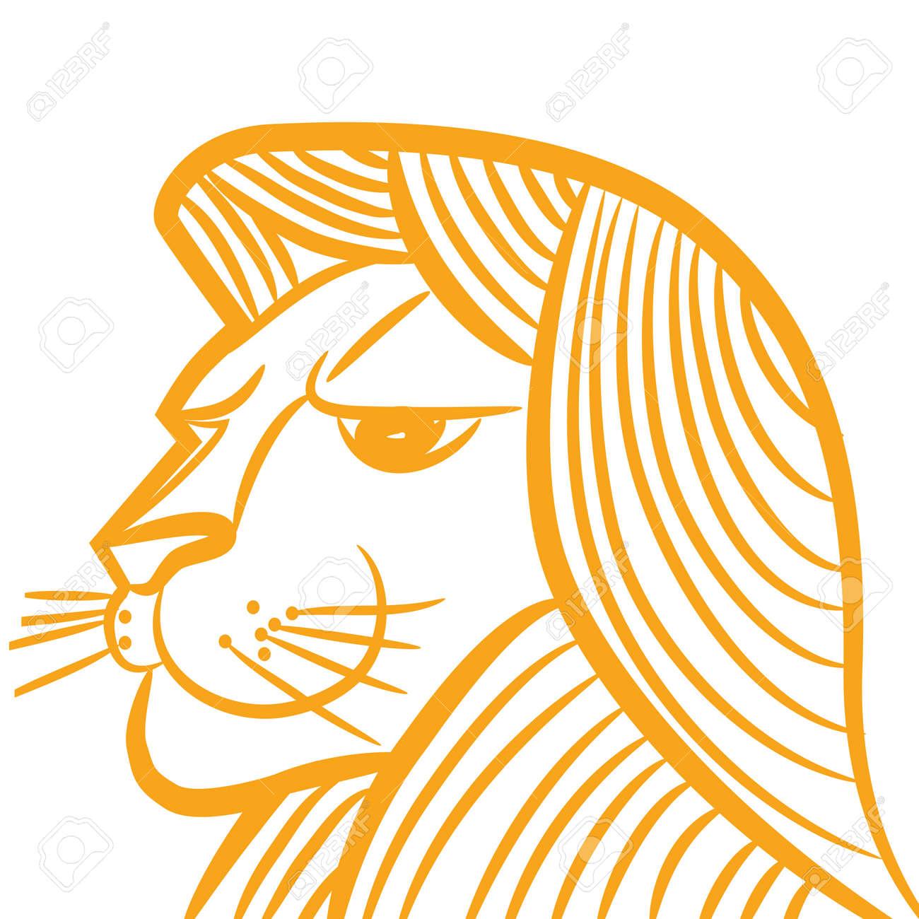 Signe Astrologique Lion Logo Icone Croquis De Lion De Style De