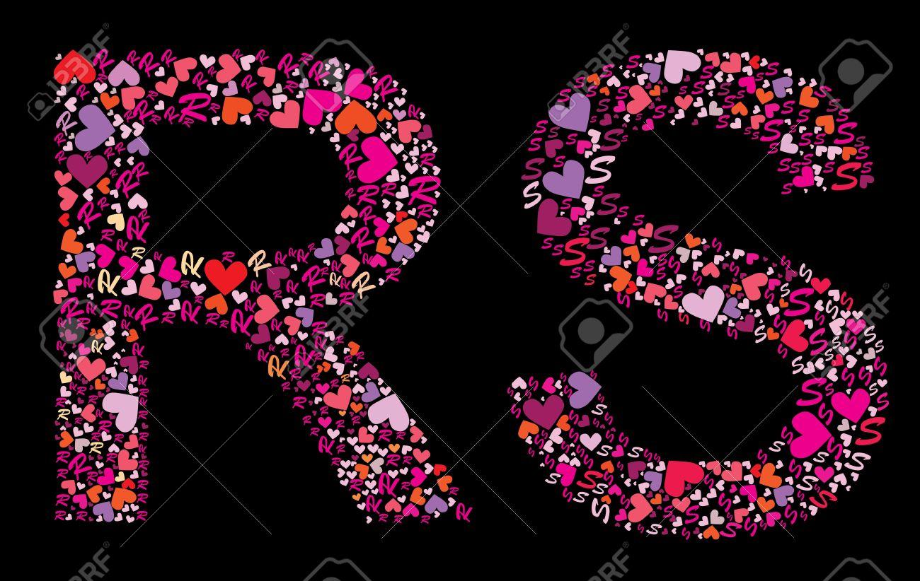 S Alphabet Letter In Heart Letter R  S  Valentine