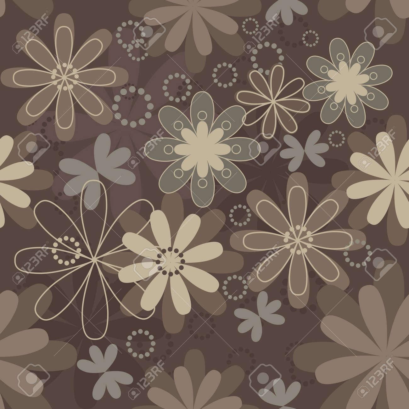 Vintage Art Vector Flower Seamless Pattern Background Fabric Texture Floral Design Pretty Cute
