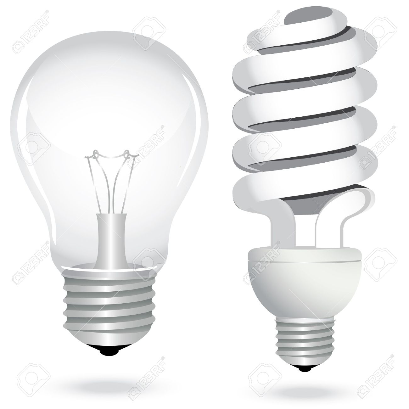 Icon set energy saving light bulb lamp glass electricity. Vector illustration. - 11816173