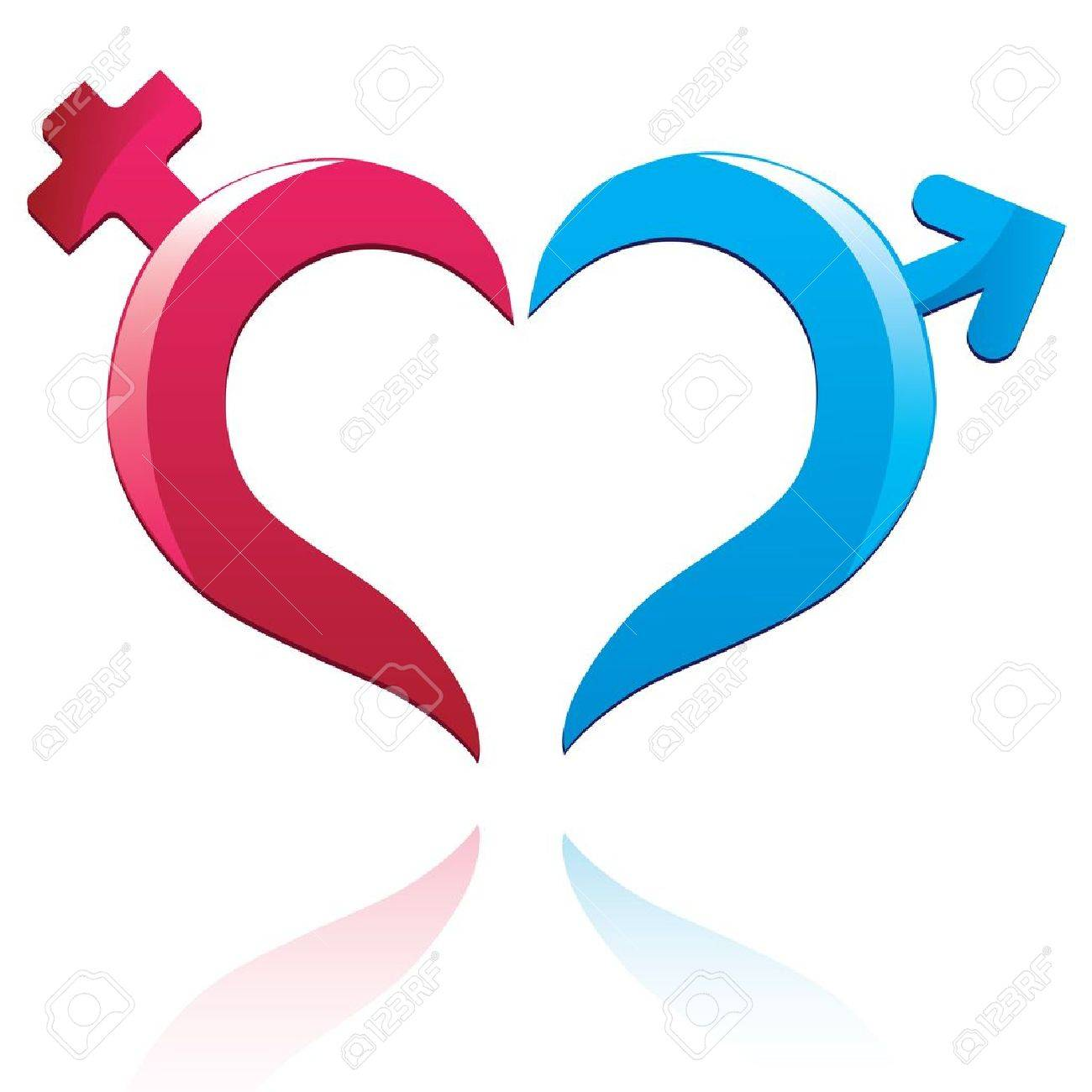 Icon Male And Female Sign. Vector Heart Symbol. Valentine Day ... for Vector Heart Shape Illustrator  257ylc