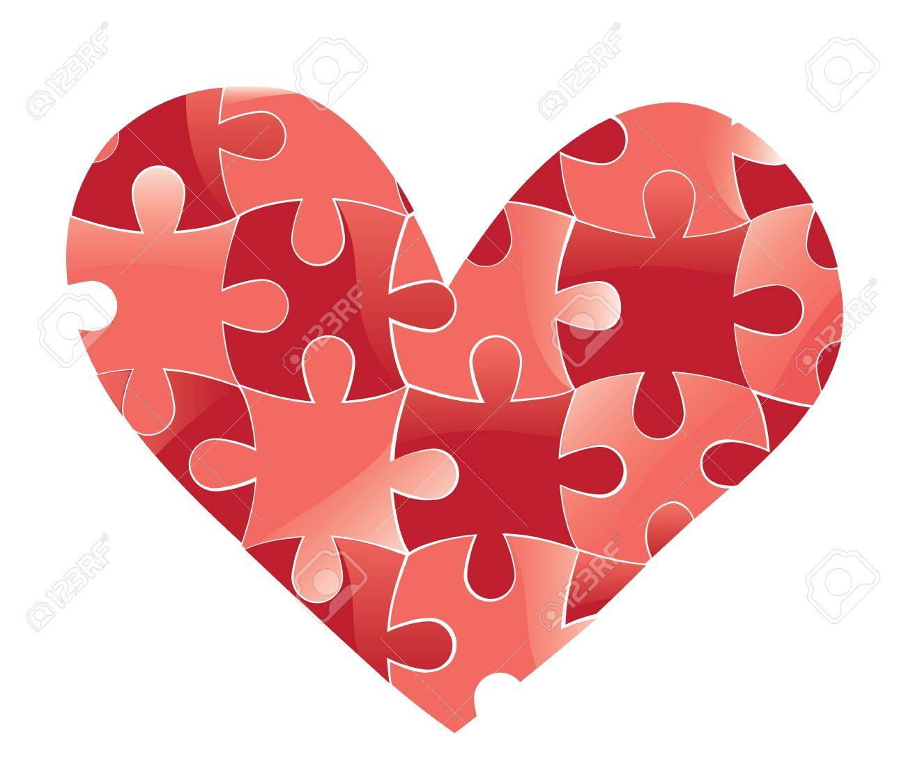 Heart puzzle. Love vector valentine romantic background. Design element. Stock Vector - 11816188