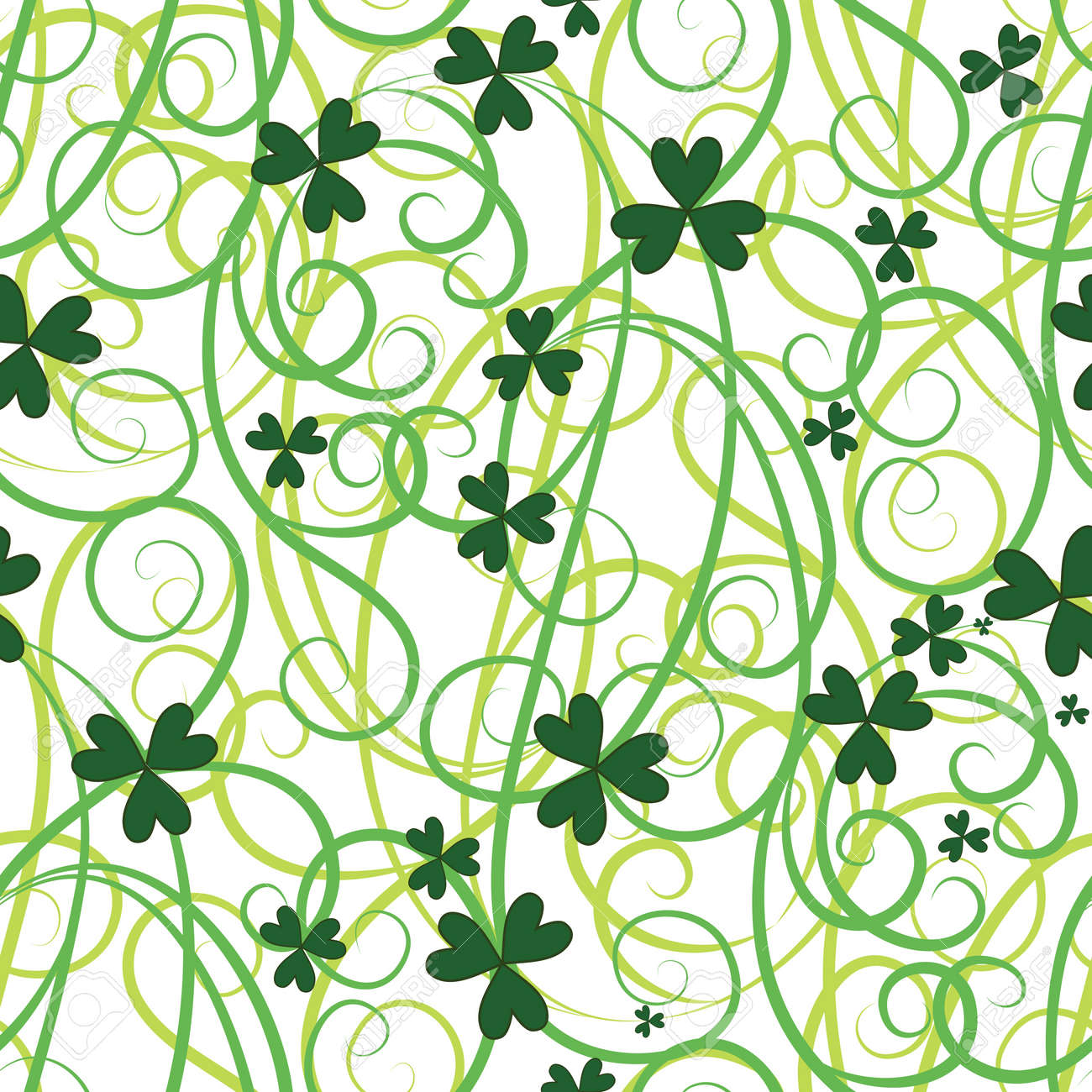 Seamless flower shamrock leaves background clover vector green seamless flower shamrock leaves background clover vector green wallpaper st patrick stock voltagebd Image collections