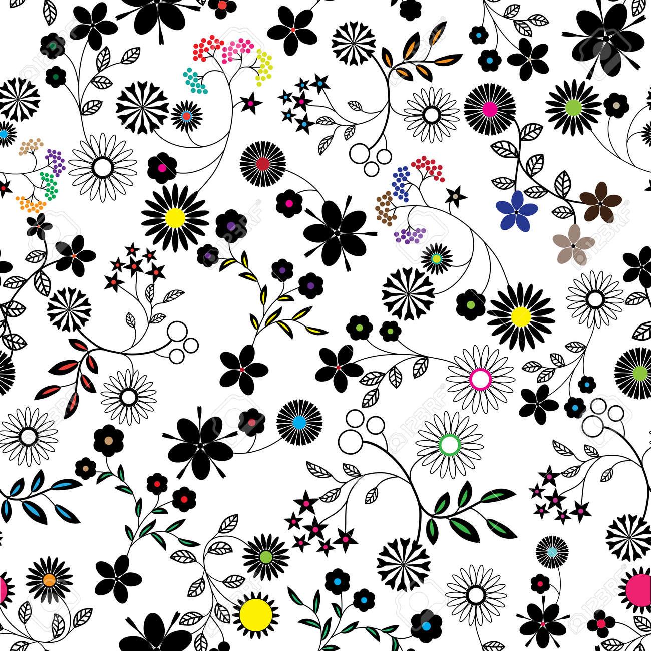 Resumen De Flores De Fondo Sin Fisuras Vector Patrón De Textura De ...