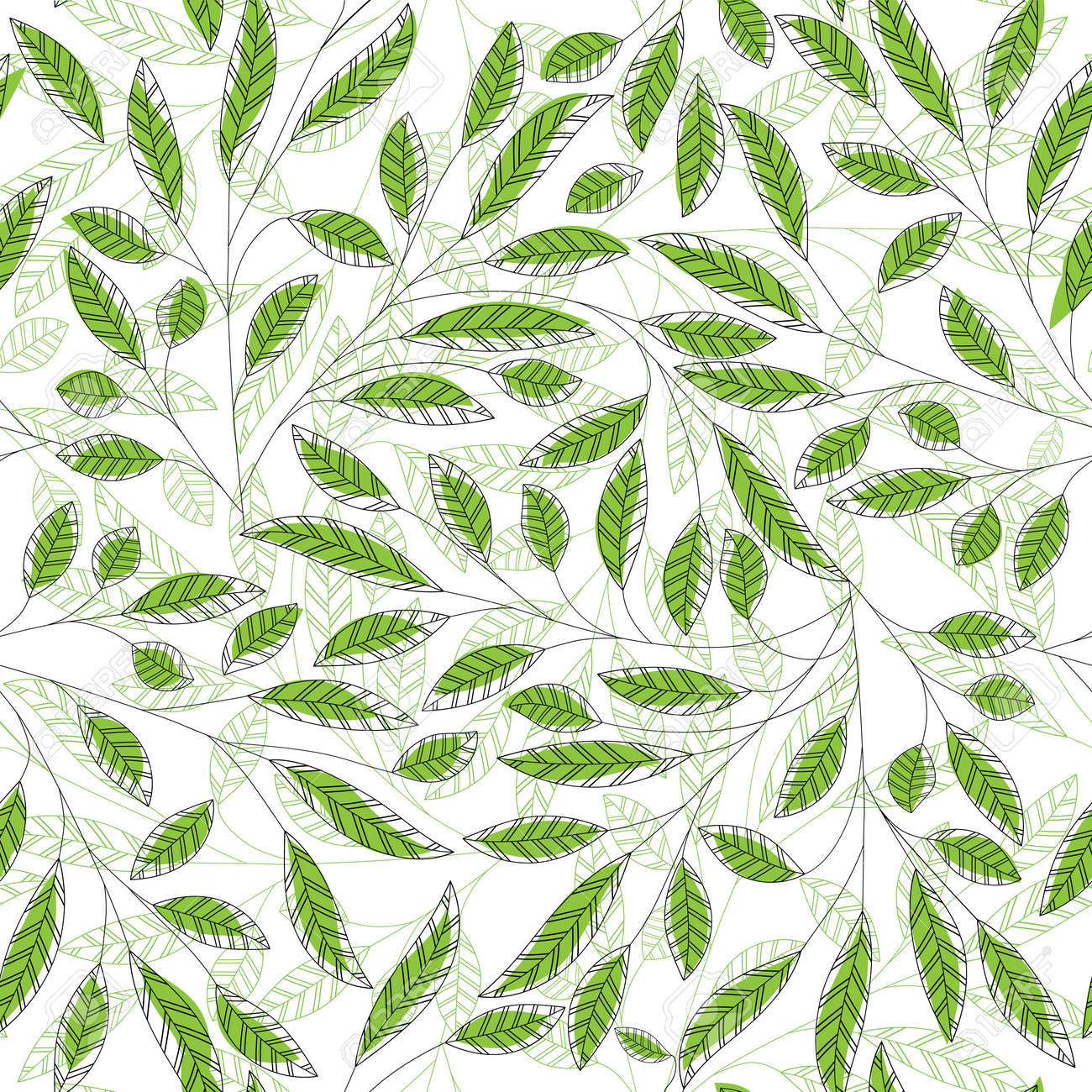Leaf Floral Abstract Seamless Vector Background Art Pattern Fabric Texture Vintage Design Pretty