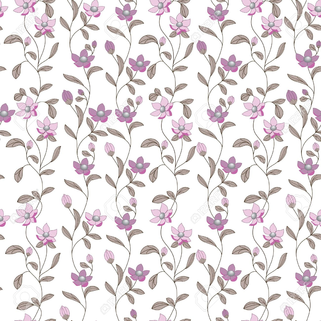 Art Flower Pattern Seamless Pattern Fabric Texture Floral