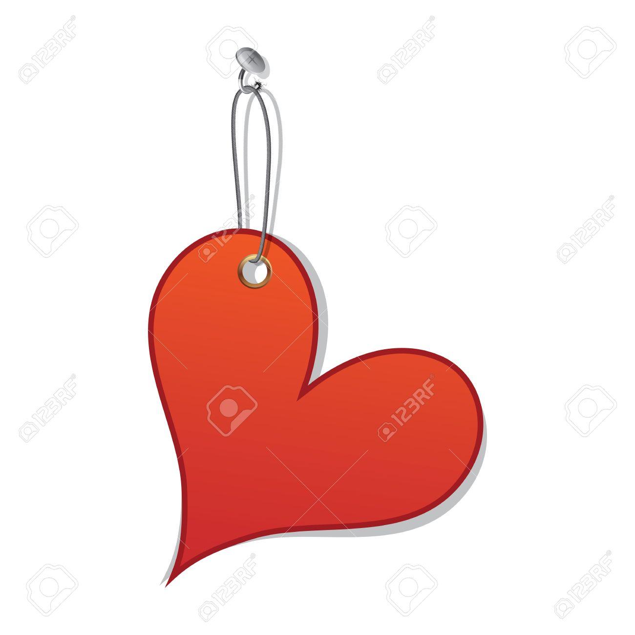 El Amor Del Corazón Etiqueta Como Símbolo Del Día De San Valentín ...