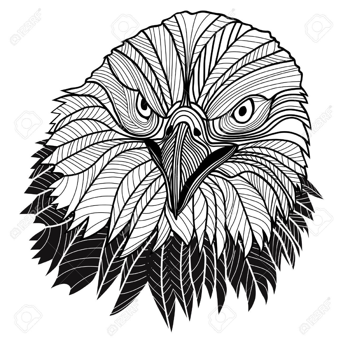 Oiseau Tete D Aigle Chauve Comme Usa Symbole De Mascotte Ou De La