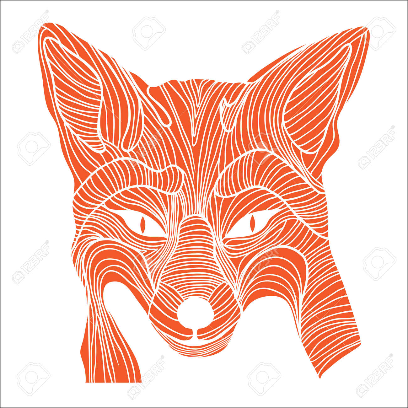Fox Animal Sketch Tattoo Symbol Illustration Foxy Dog T Shirt Icon