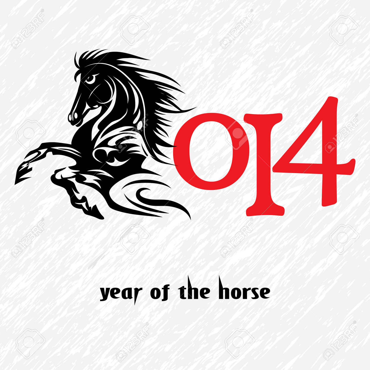 Horse 2014 Year Chinese Symbol Illustration Image Tattoo Design Royalty Free Cliparts Vectors And Stock Illustration Image 21490431