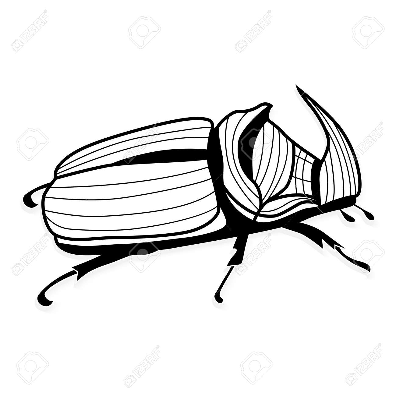 rhinoceros beetle vector tattoo or for t shirts royalty free Rhinoceros Pix rhinoceros beetle vector tattoo or for t shirts stock vector 43641722