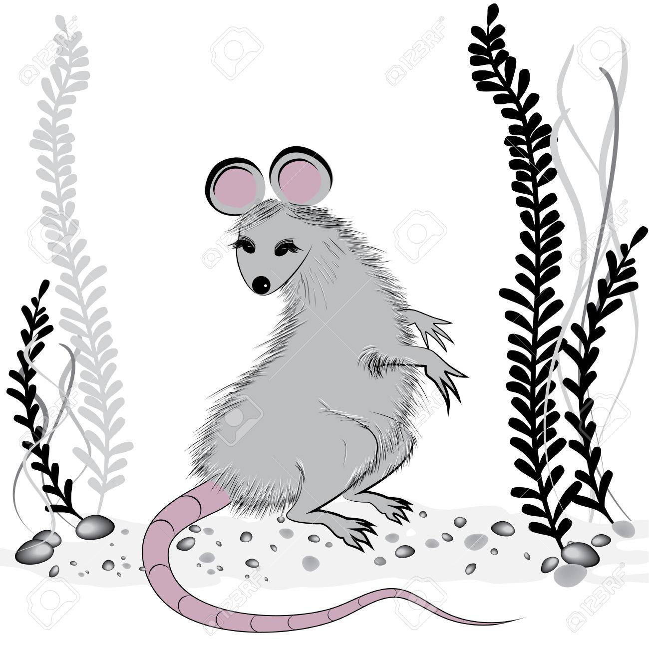 Rat Mouse As Symbol For Year 2020 By Chinese Traditional Horoscope