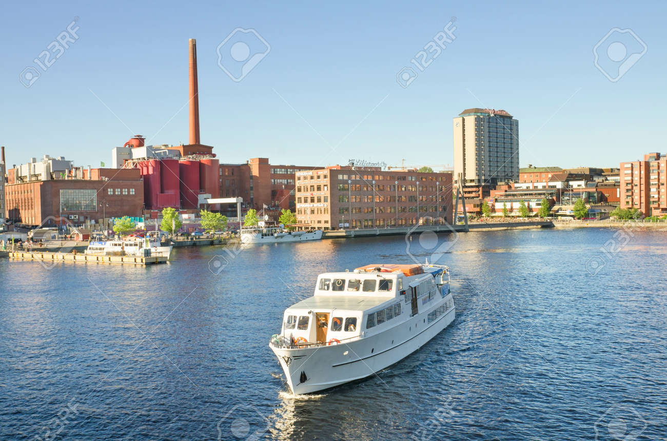 Ship in Tampere harbour, Finland. - 25421690