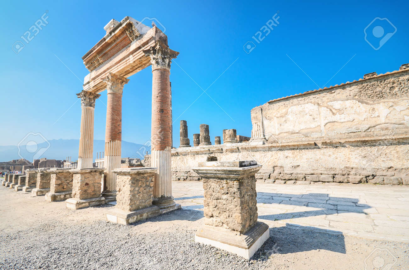 Ancient ruins of Pompeii, Italy - 31181363
