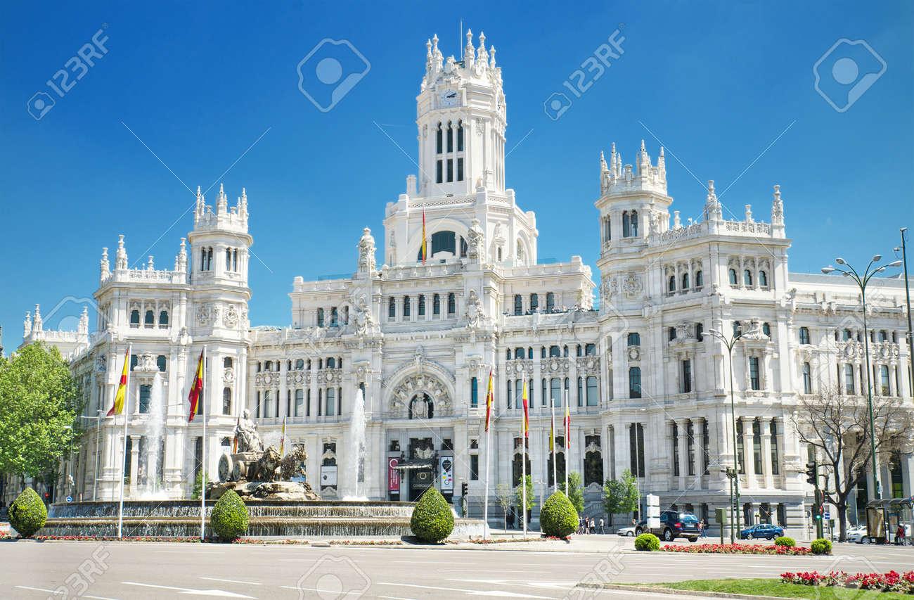Plaza De Cibeles And Palacio De Comunicaciones Famous Landmark