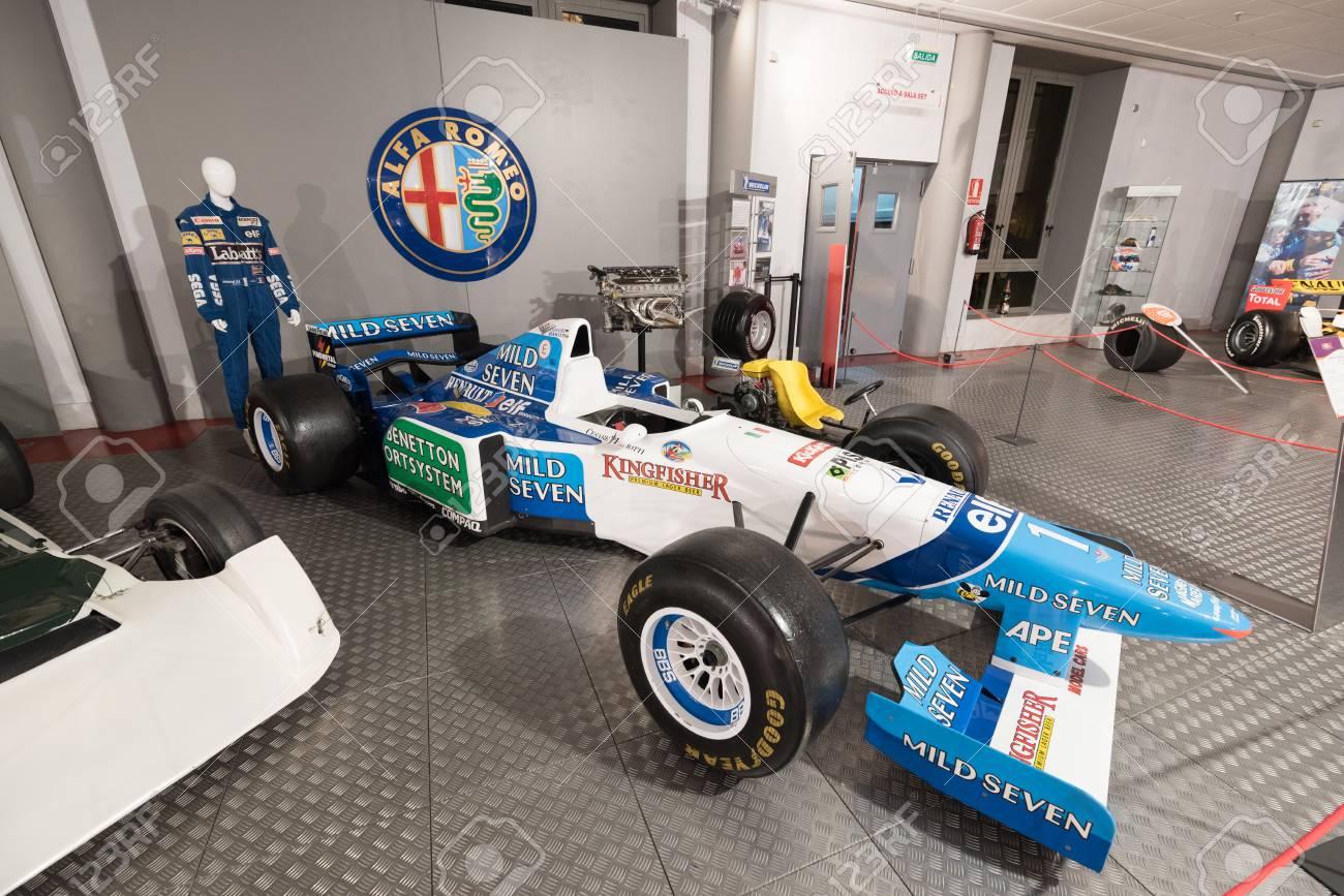 enlace judío Mal funcionamiento  Salamanca, Spain - December 29 2017: Michael Schumacher Benetton.. Stock  Photo, Picture And Royalty Free Image. Image 95022979.