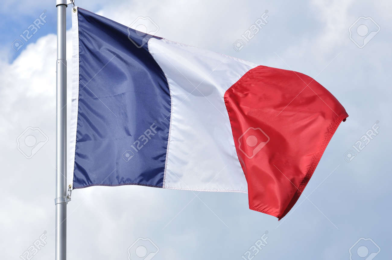 The Flag of France Waving in the Breeze Stock Photo - 7718597
