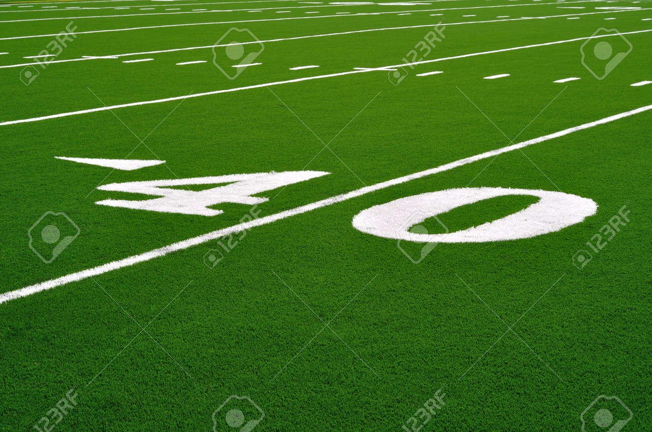 40 Yard Line on American Football Field Stock Photo - 7783039
